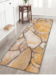 Stone Brick Texture Skidproof Flannel Area Rug - MARBLE
