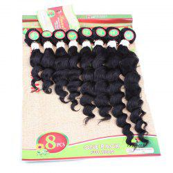 8PCS Caribbean Deep Wave Different Sizes Hair Wefts - BLACK
