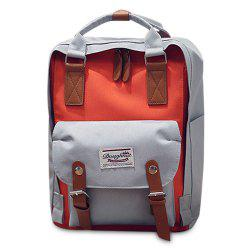 Color Blocking Canvas Backpack