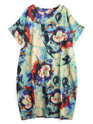 Plus Size Dip Dye Midi Cocoon Dress
