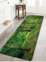 Forest Print Flannel Skidproof Bath Rug
