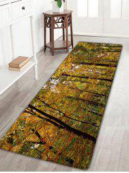 Forest Pattern Flannel Skidproof Rug