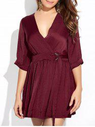 Wrap Ruched A-Line Dress -