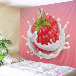 Strawberry Fruit Print Tapestry Wall Hanging Art Decoration