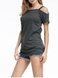 Cold Shoulder Tunic T-shirt