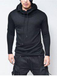 Pullover Drawstring Cowl Neck Hoodie