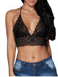 Halter Scalloped Lace Bralette