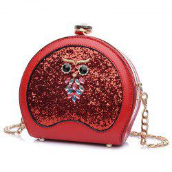 Sac Crossbody Sequined de hibou -