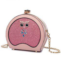 Sac Crossbody Sequined de hibou - ROSE PÂLE