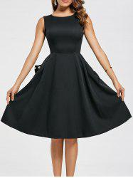 Pockets Fit and Flare Work Dress