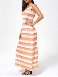 Stripe Sleeveless Maxi Tank Dress