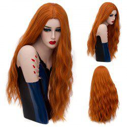 Long Center Parting Natural Wave Synthetic Wig