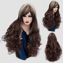 Long Side Bang Colormix Layered Shaggy Curly Synthetic Wig