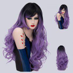Long Side Part Ombre Shaggy Layered Curly Synthetic Wig