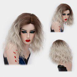 Medium Side Part Shaggy Natural Wave Ombre Synthetic Wig