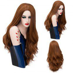 Long Middle Part Layered Shaggy Wavy Synthetic Wig
