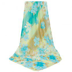 Lightsome Gossamer Watercolour Flowers Pattern Scarf - CLOUDY