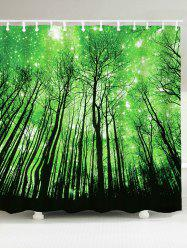 Bathroom Waterproof Grove Print Shower Curtain