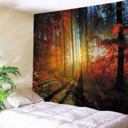 Forest Maple Print Tapestry Wall Hanging Art Decoration