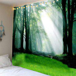 Forest Glass Sunlight Waterproof Wall Hanging Tapestry