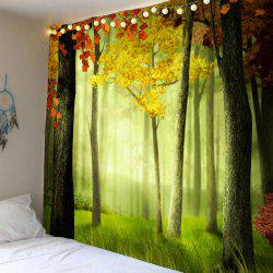 Waterproof Foggy Maple Tree Wall Hanging Tapestry
