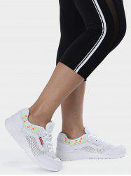 Geometric Pattern Breathable Athletic Shoes - WHITE