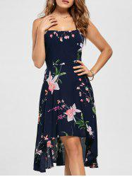 Floral High Low Slip Dress