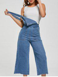 Ninth Wide Leg Pinafore Denim Pants - LIGHT BLUE