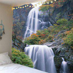 Waterfall Maple Tree Waterproof Wall Art Tapestry - Vert