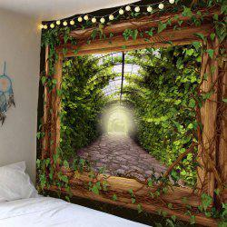Waterproof Vine Leaves in Frame Wall Hanging Tapestry -
