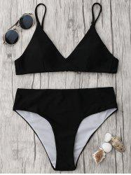 Spaghetti Strap High Waisted Bikini Set -