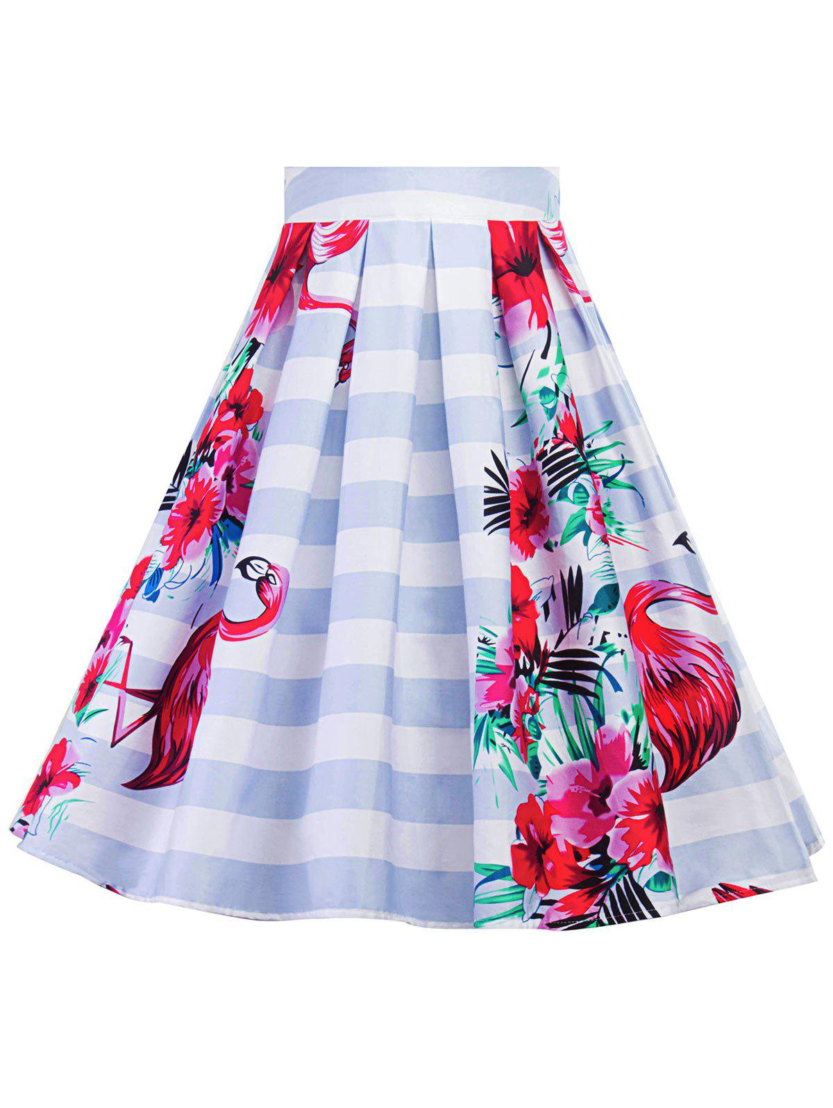 Trendy Plus Size A Line Floral Skirt