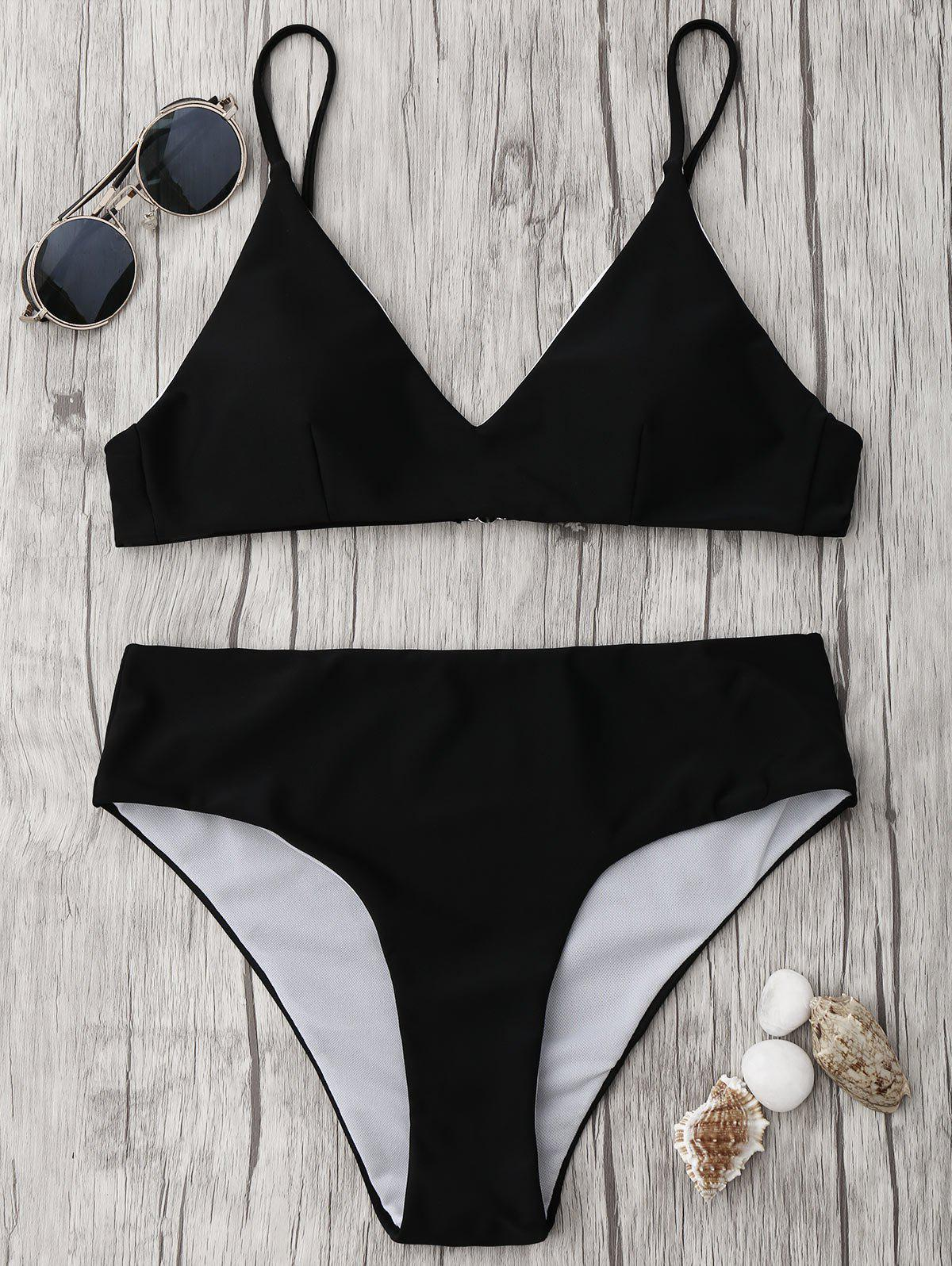 Shop Spaghetti Strap High Waisted Bikini Set