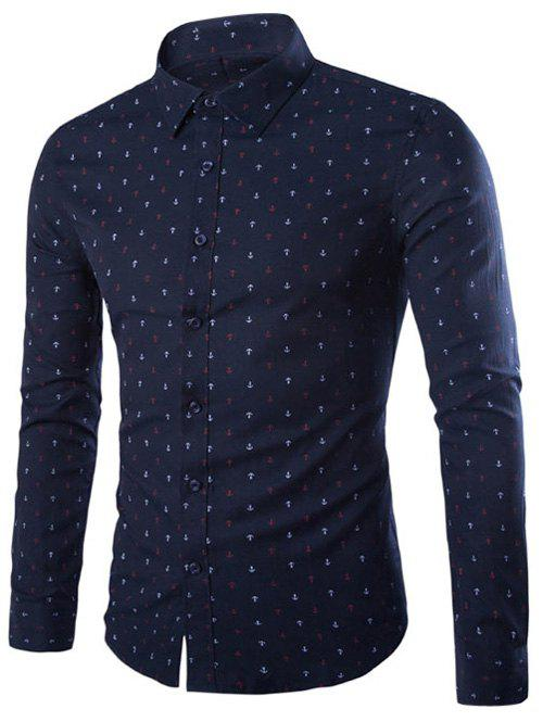 Image of Long Sleeve Anchor Print Shirt