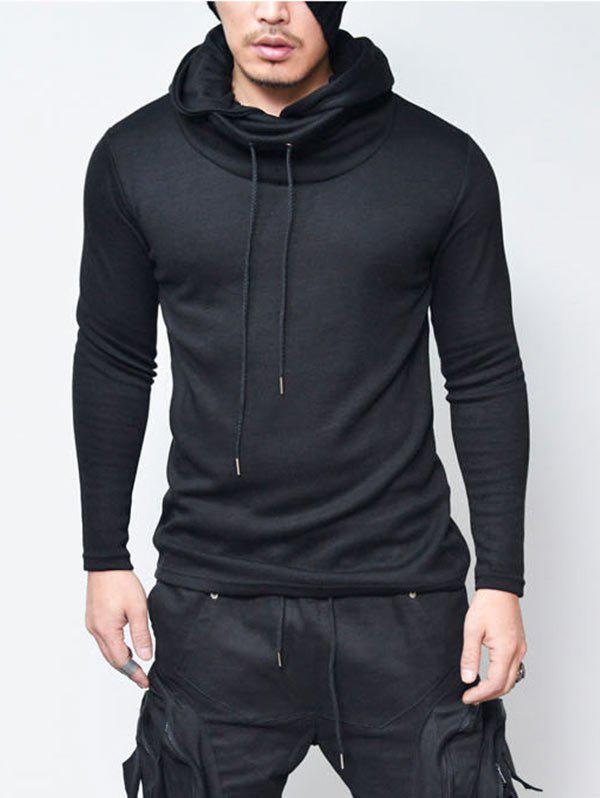 e98a9696939 36% OFF  Pullover Drawstring Cowl Neck Hoodie