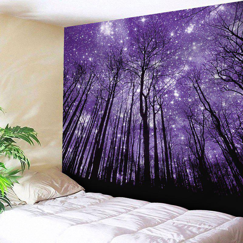 Microfiber Wall Hanging Grove Printed TapestryHOME<br><br>Size: W59 INCH * L51 INCH; Color: PURPLE; Style: Natural; Theme: Landscape; Material: Nylon,Polyester; Feature: Removable,Washable; Shape/Pattern: Plant,Print; Weight: 0.1800kg; Package Contents: 1 x Tapestry;