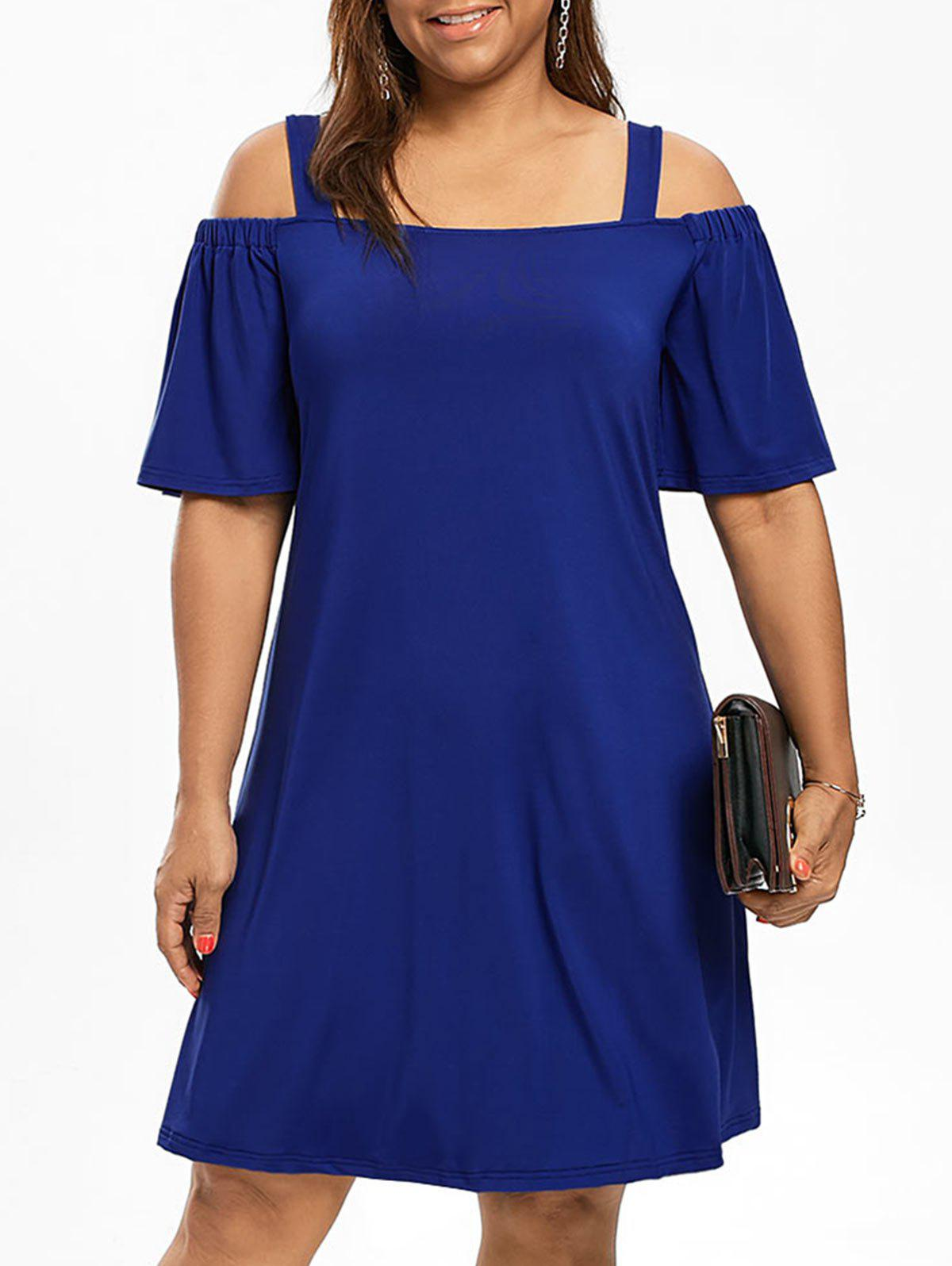 Robe Grande Taille Manches 1/2 Épaules Nues