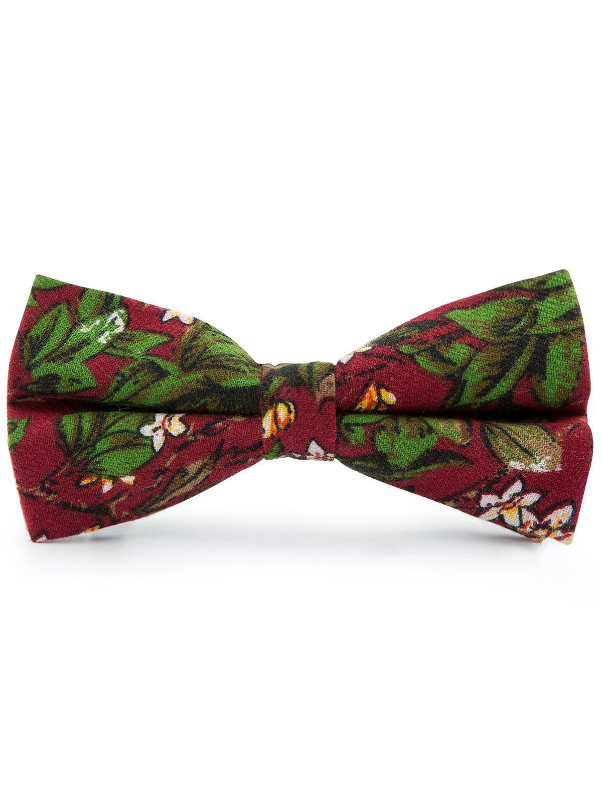 Fancy Cotton Blend Tiny Floral Pattern Bow Tie