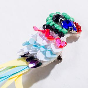 Broche en strass Parrot Sequins - Multicolore