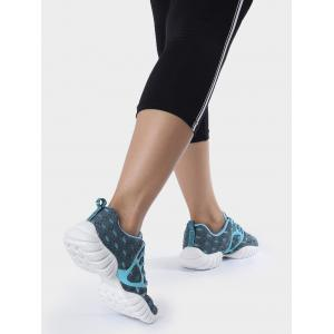 Mesh Breathable Geometric Pattern Athletic Shoes -
