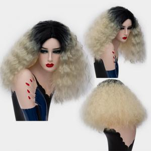Medium Center Part Ombre Shaggy Corn Hot Synthetic Wig