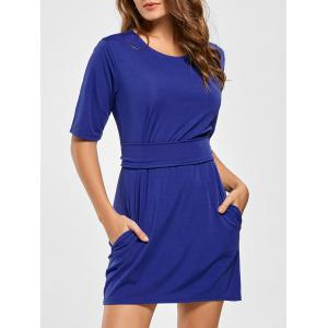 Belted Mini Fitted Dress