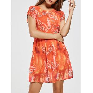 Chiffon Printed A Line Mini Dress