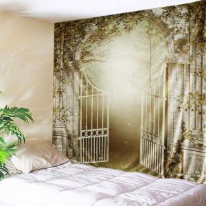 Gate Forest Print Tapestry Wall Hanging Art Decoration