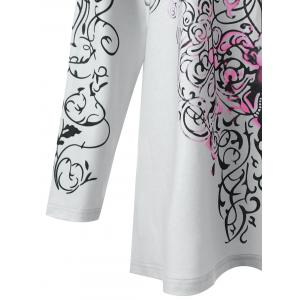 Plus Size Bandana Floral Long Sleeve Tee -