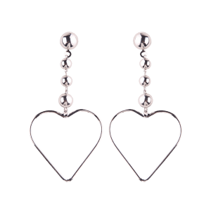 Hollow Out Heart Alloy Drop Earrings