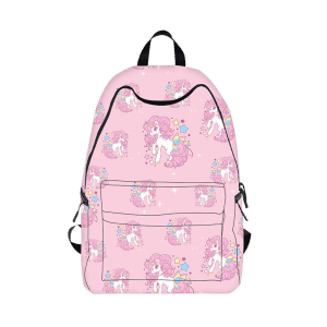 Padded Strap Unicorn Print Backpack - PINK