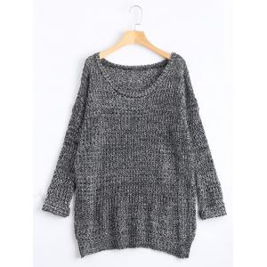 Casual Chunky Knit Sweater - Gray - One Size(fit Size Xs To M)