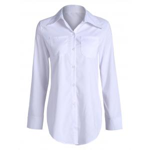 Long Double Pockets Button Up Shirt