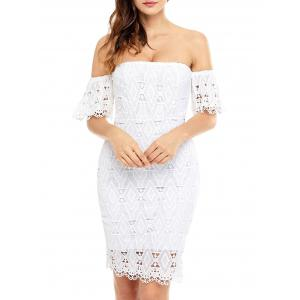 Off The Shoulder Sheath Lace Dress